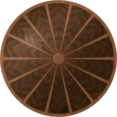 Kiln Dried American Black Walnut and Peruvian Walnut custom round table.