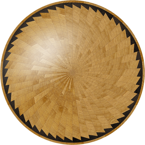 Kiln Dried American White Oak and African Wenge custom hand made round table.
