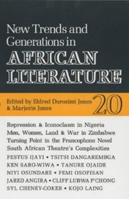 AFRICAN LITERATURE TODAY, Vol. 20, New Trends and Generations in African Literature, Edited by Eldred Durosimi Jones & Marjorie Jones