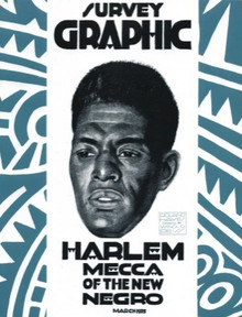 SURVEY GRAPHIC , HARLEM MECCA OF THE NEW NEGRO by  ED. Alain Locke