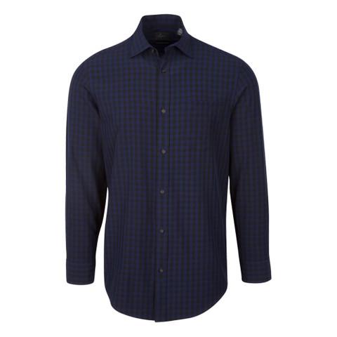 Greg Norman Long Sleeve Yarn Dye Check Sport Golf Shirt Previous Season 2017