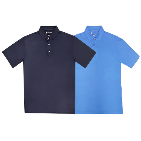 Oxford Stanton Dri Release Heathered Jersey Golf Polo 2017