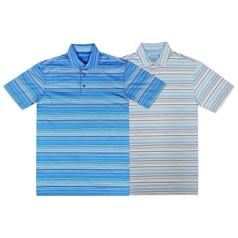 Oxford Wilton Coolmax Multi Stripe Jersey Golf Polo 2017
