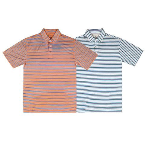 Oxford Surrey Dri Release Multi Stripe Jersey Golf Polo 2017
