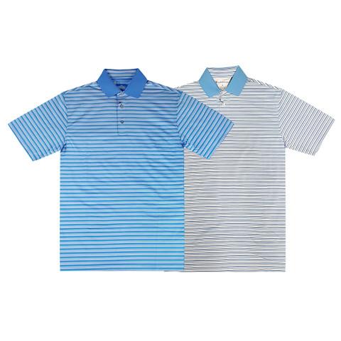Oxford Burgess Coolmax Multi Stripe Jersey Golf Polo 2017