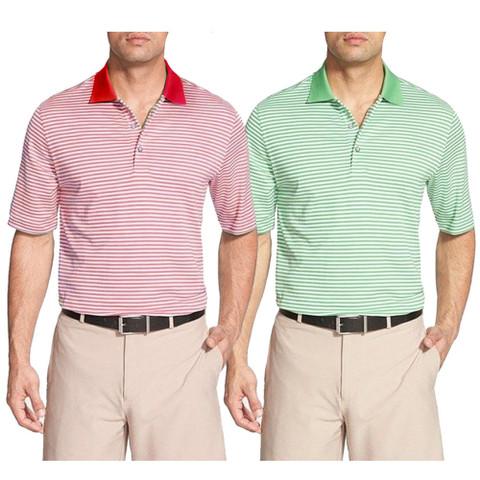 Bobby Jones Flag Stripe Regular Fit Pima Cotton Golf Polo 2016