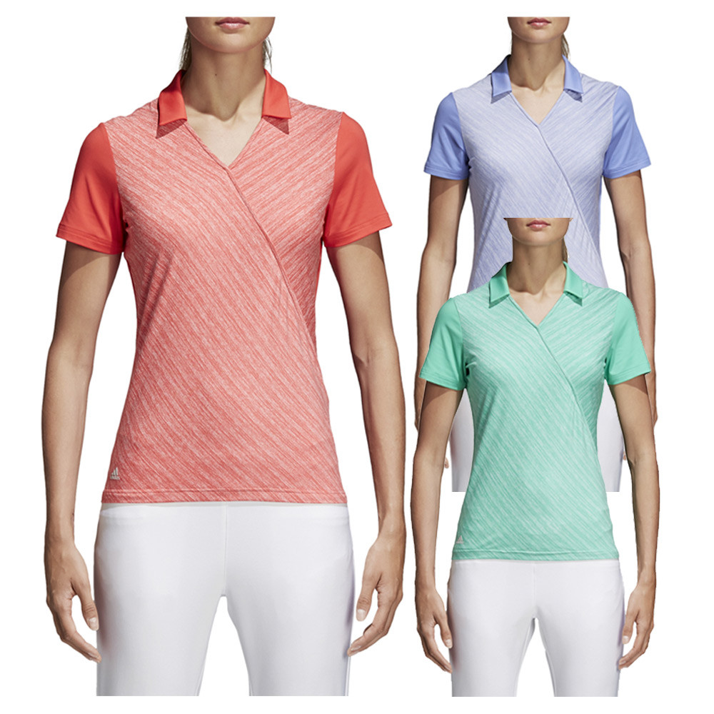 c0336de4 Adidas Crossover Novelty Short Sleeve Golf Polo 2018 Women - Golfio