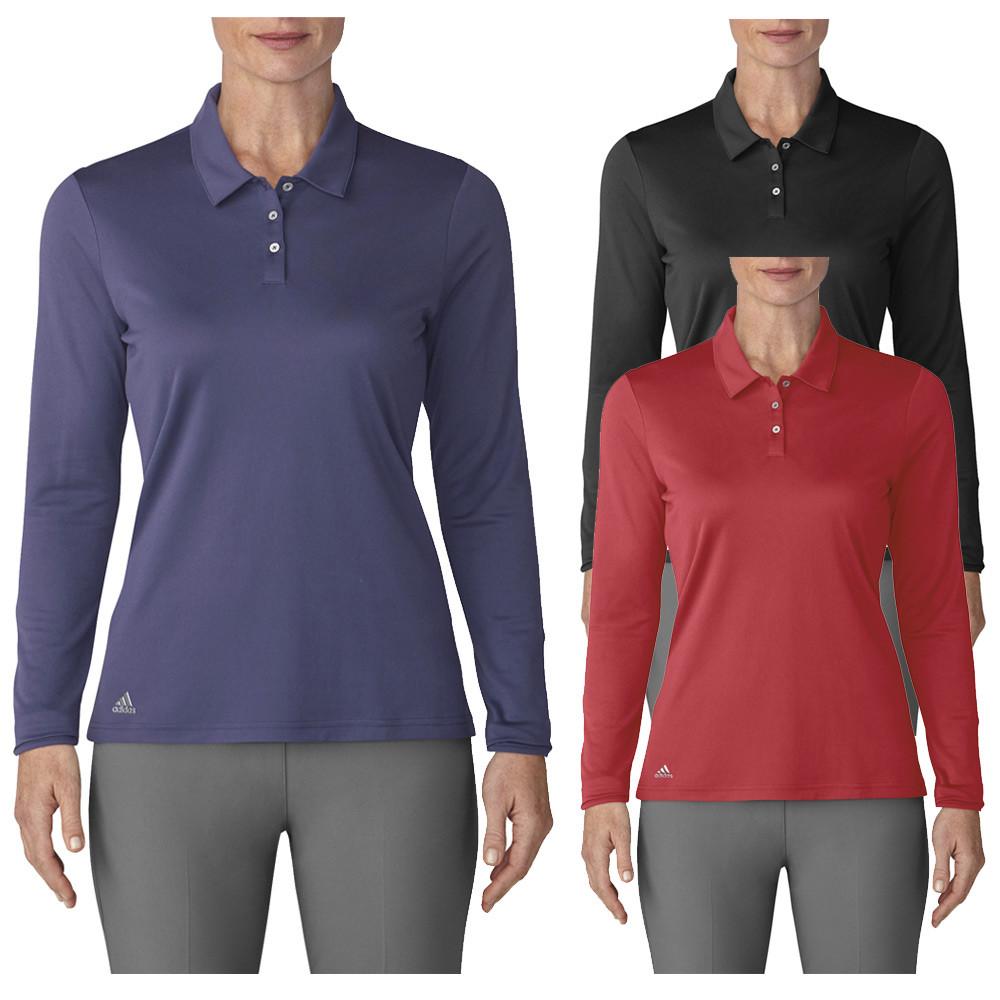 51f32e79 Adidas Performance Long Sleeve Golf Polo 2019 Women - Golfio