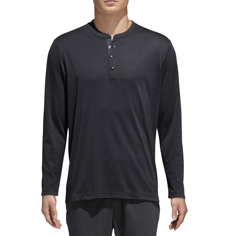 b702c154 Adidas AdiCross No Show Range Henley Golf Shirt 2018 - Golfio