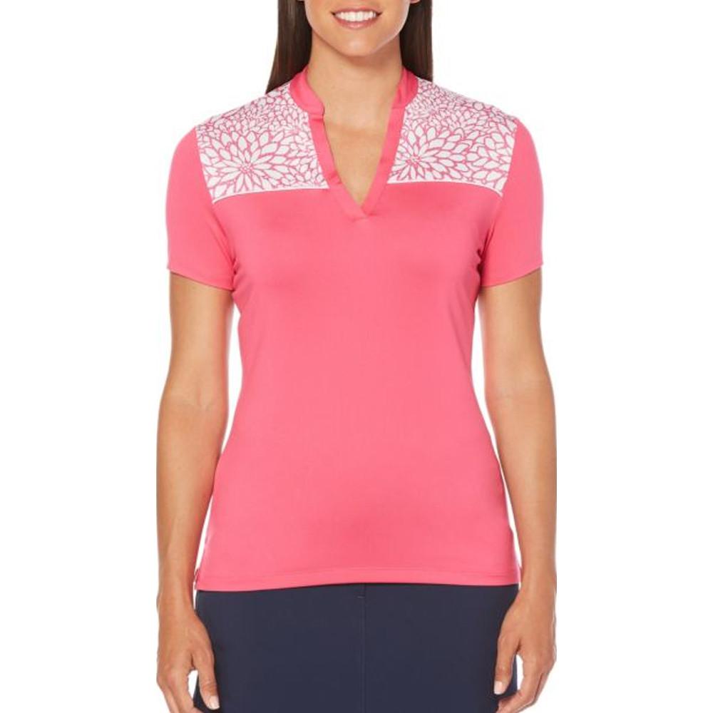 Callaway Sketchy Floral Print Golf Shirt 2018 Women Golfio