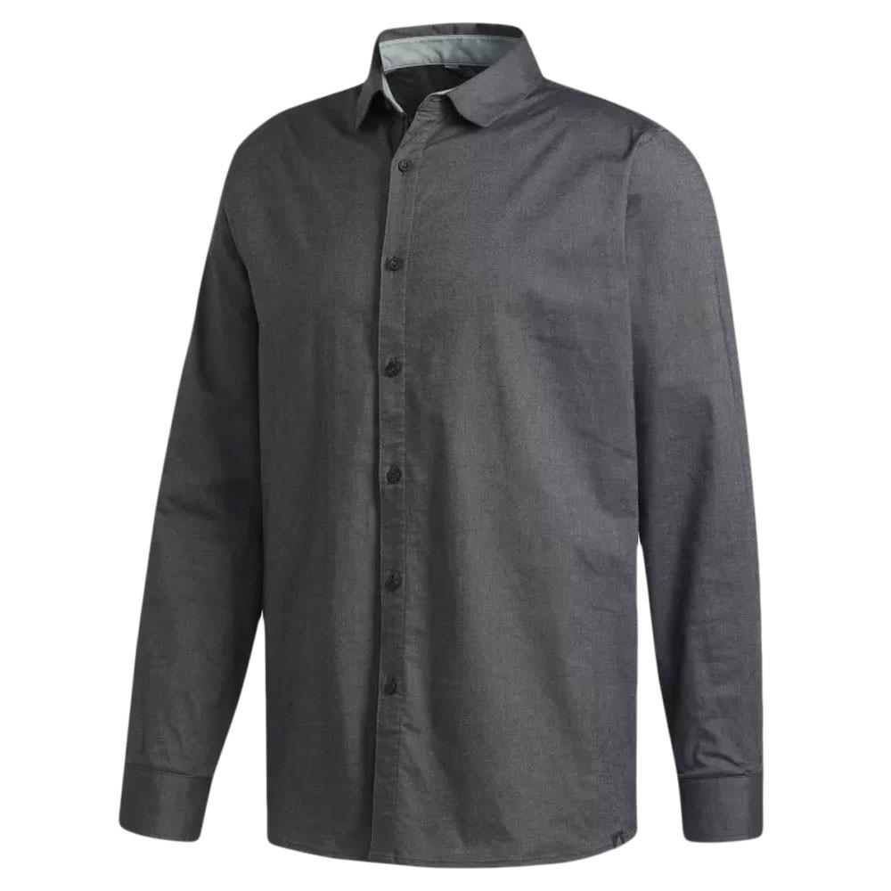 fbc71d05 Adidas Beyond 18 Stretch Woven Oxford Golf Shirt 2018 - Golfio