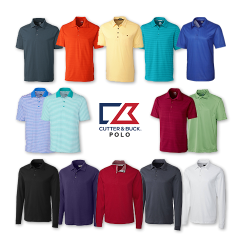 Cutter and Buck Men's Polo (Big and Tall) Clearance Sale