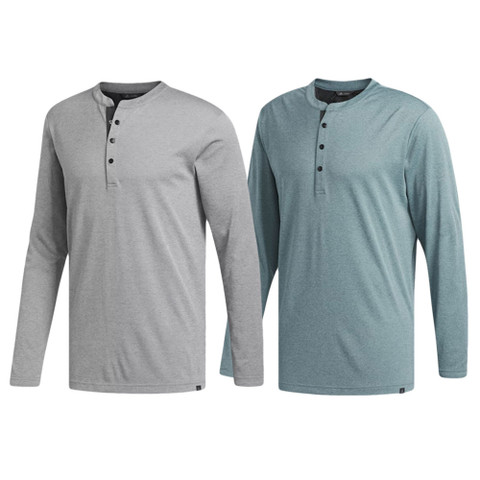 Adidas Fall AdiCross No Show Range Henley Golf Shirt 2018