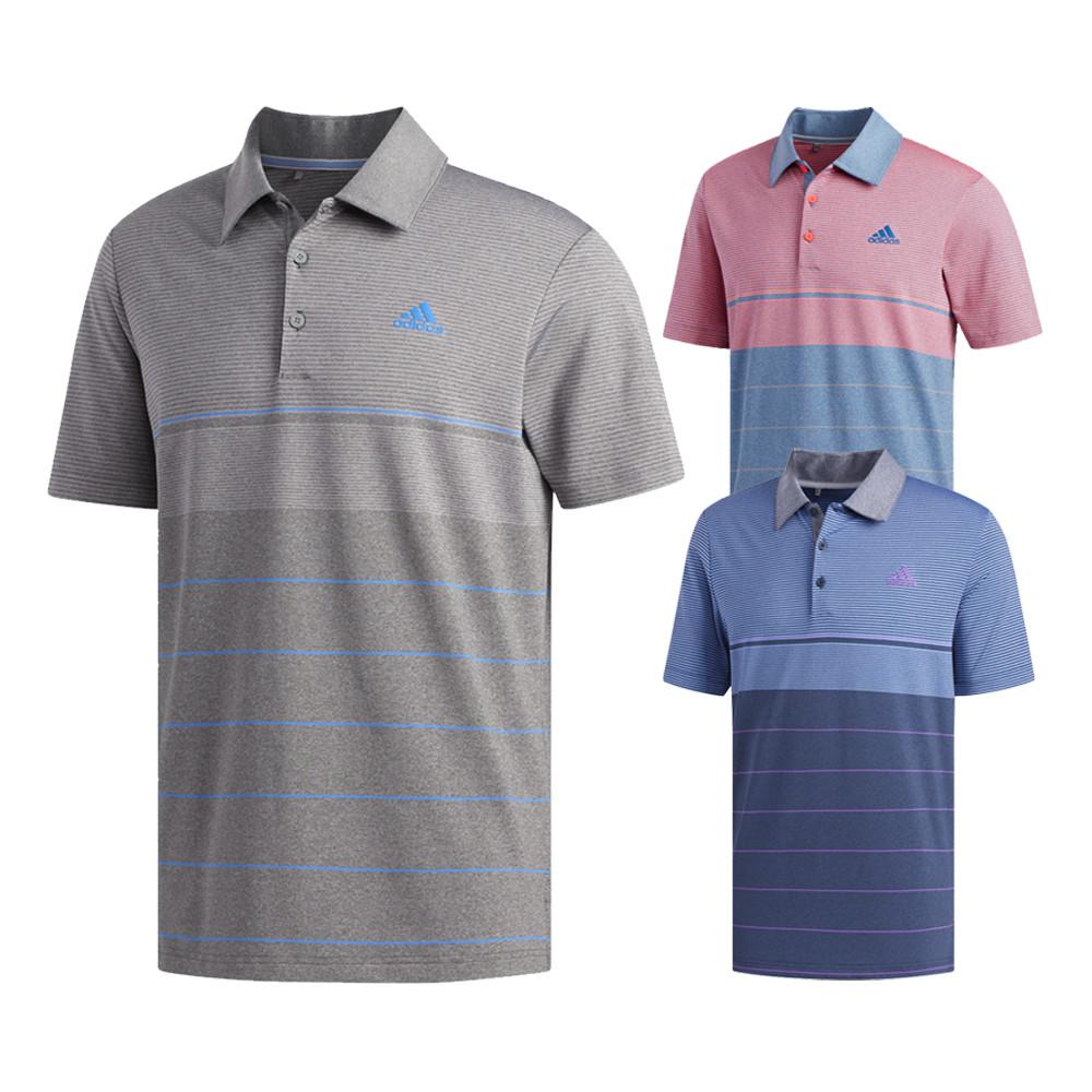 e2125ffe Adidas Ultimate Heather Gradient Stripe Golf Polo 2019 - Golfio