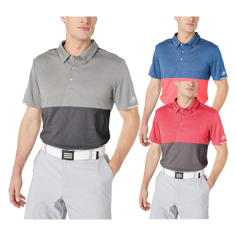 Adidas ClimaChill Heather Block Competition Golf Polo 2019