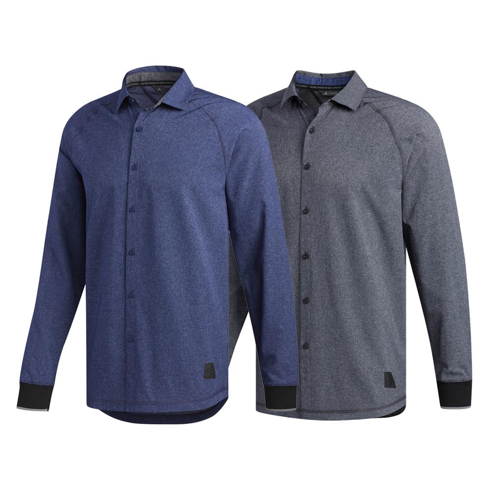036d439dd4229 Adidas AdiCross Stretch Woven Oxford Golf Shirt 2019 - Golfio