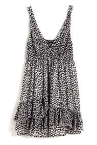 [Sample] Collette, black kisses mid dress