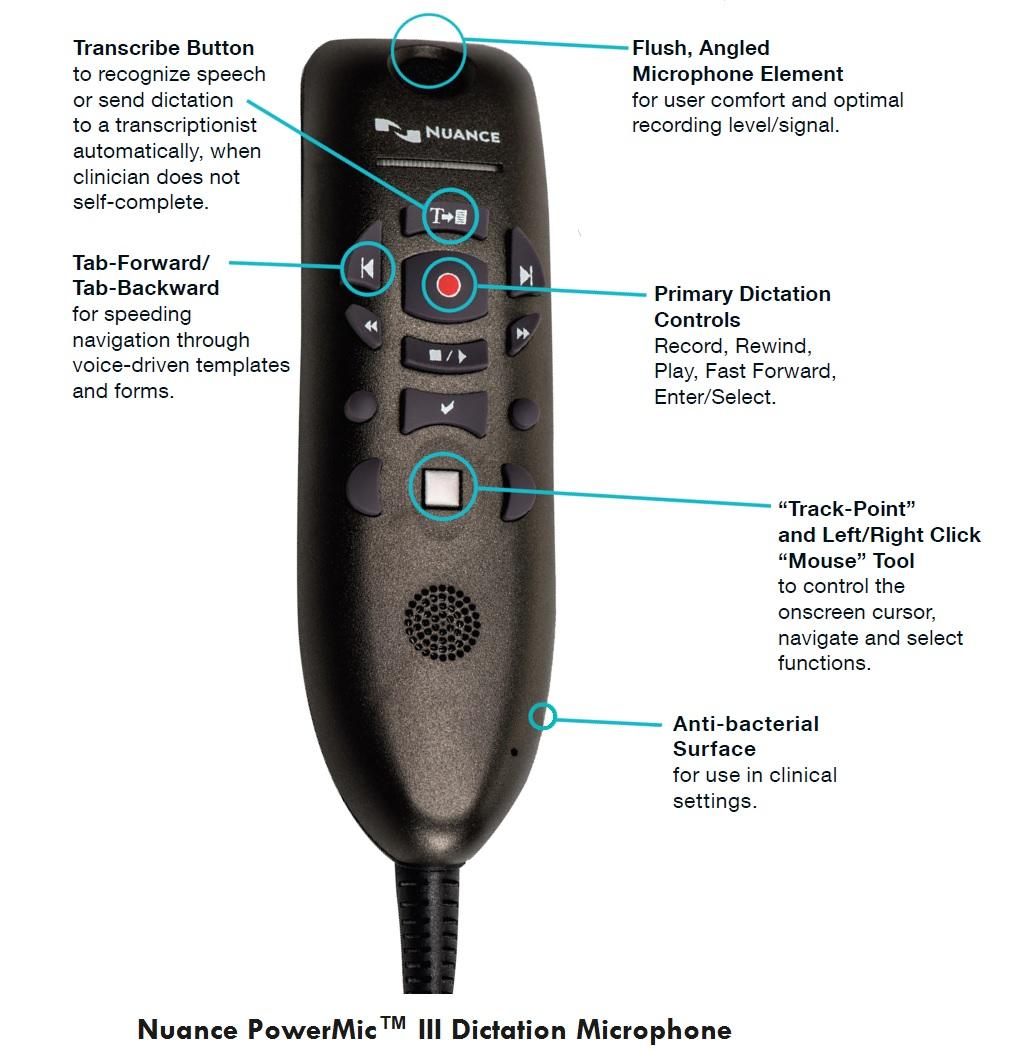 Philips lfh3200 speechmike iii pro usb push button dictation.
