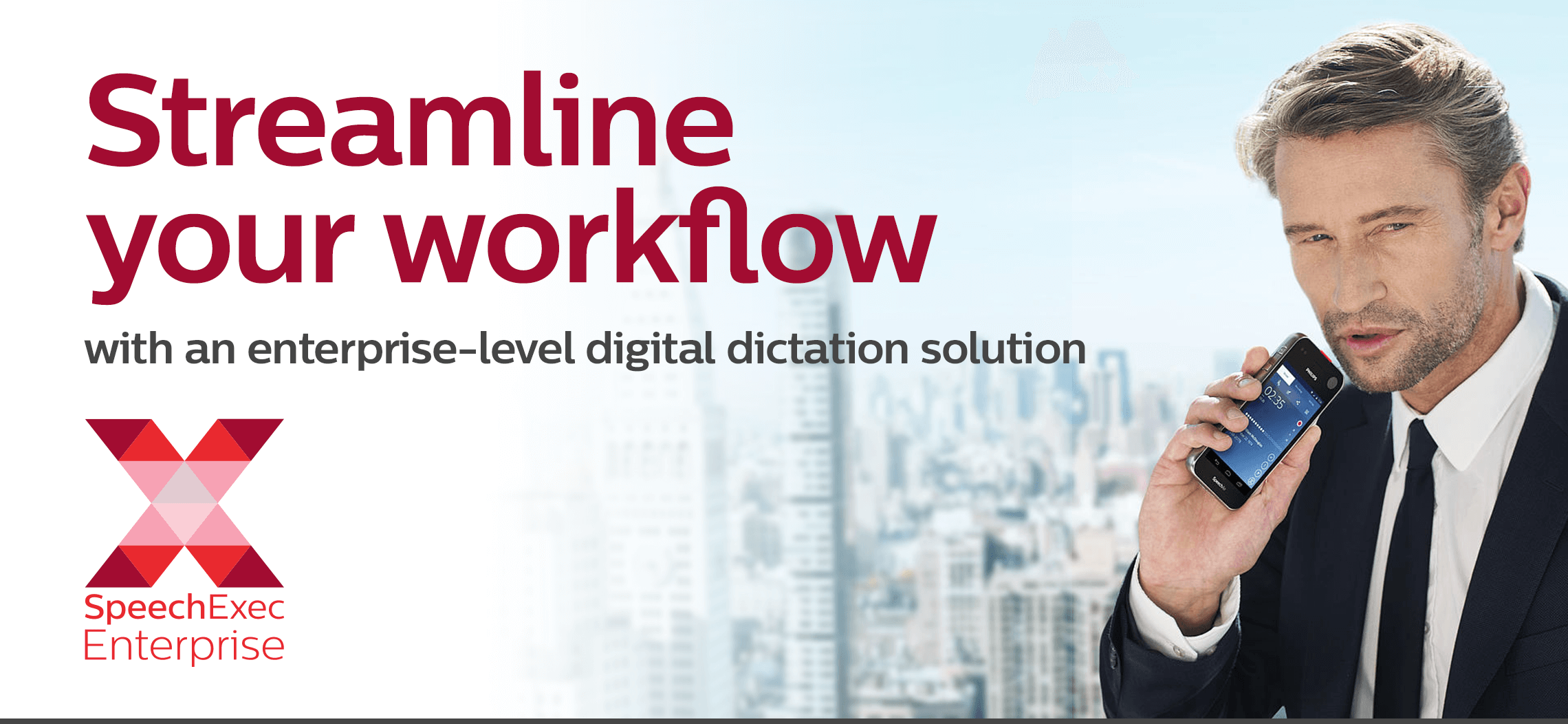 Streamline your workflow with an enterprise-level digital dictation solution.