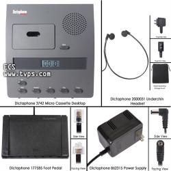 Dictaphone 3742 Micro Cassette Desktop Transcriber - New