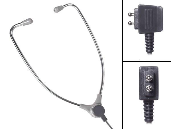 ECS-AL-60-USB-SAET Aluminum Stetho Style Transcription Headset With Soft Antimicrobial Eartips