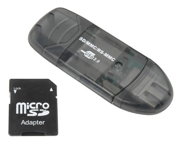 ECS SD MMC RS Memory Card Reader New