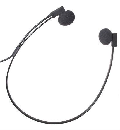 Spectra Deluxe Transcriber Underchin Headset 3.5mm Right Angle Plug SP-RA