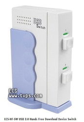 ECS-HF-SW USB 2.0 Hands Free Download Device Switch Box for used with Olympus CR-3A, CR-10 and CR-15 Cradles