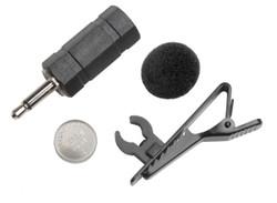ECS TCM-100 A 2.5 & 3.5 mm Tie Clip Battery Power Microphone