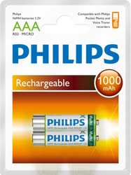 Philips LFH9154 AAA NiMH Rechargeable Batteries - New 9154