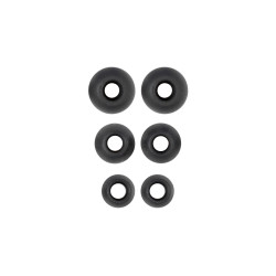 ECS NRIESET Replacement Silicone Ear tips for ECS NRIE USB Transcription Headset Headset, 3 Pair - New