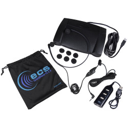 Infinity IN-USB-2 USB Foot Pedal and WHUC3.5 Stereo Headset and USB Hub