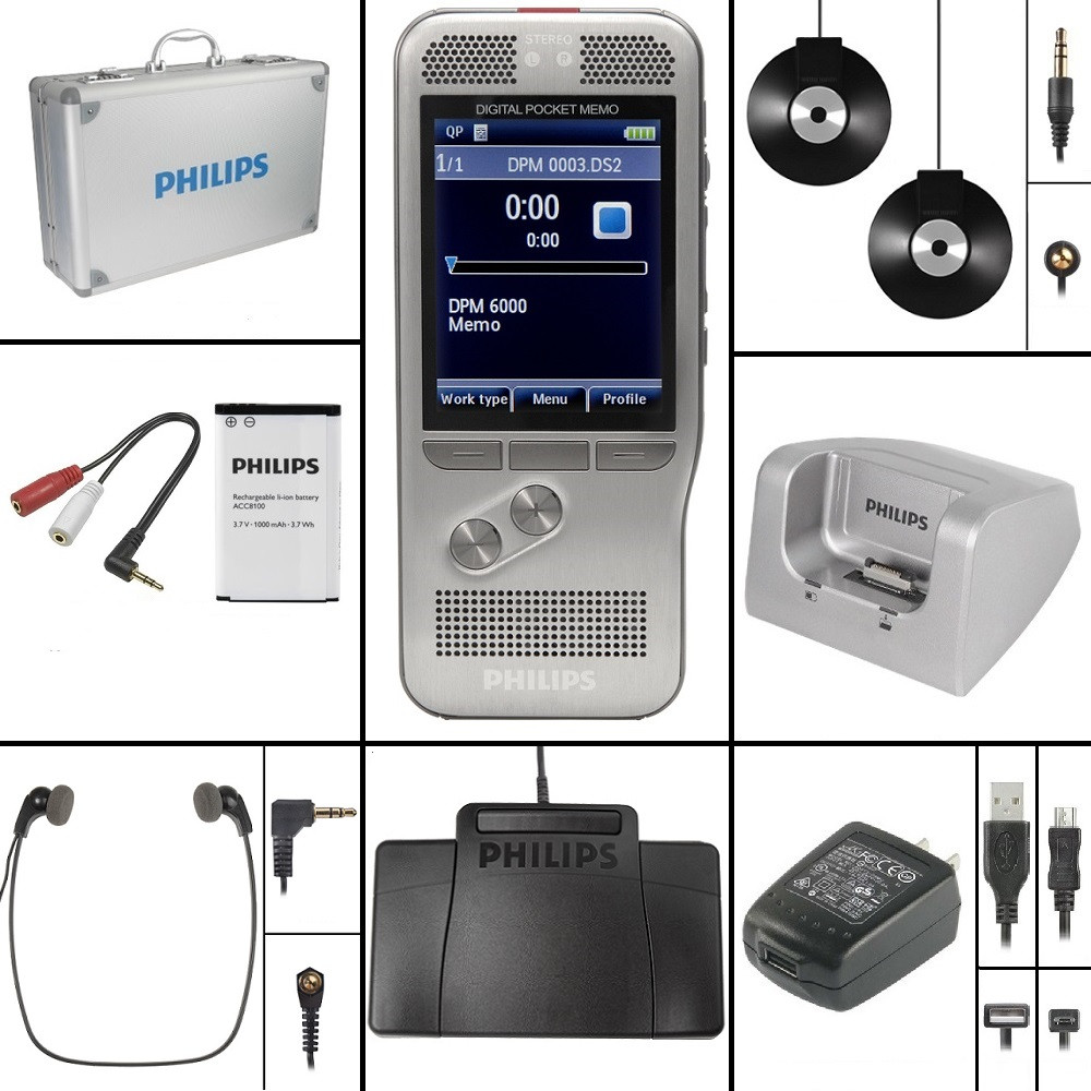 Philips DPM6000 Conference Recording and Transcription Kit