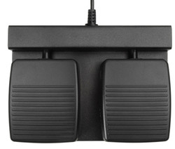 ECS-DRAGON-FP-2B Two Button Hands Free Foot Pedal for Dragon®