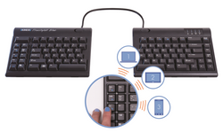 Kinesis Freestyle2 Blue - MultichannelTM Bluetooth for PC keyboard