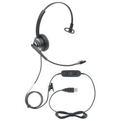 Professional WordCommander Voice to Text USB Voice Recognition Headset with Noise Cancelling Boom Microphone