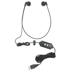 ECS WHUCUSB WordHear-O USB Under-chin Transcription Headset