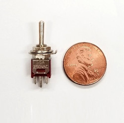 ECS 3 Way Sub Miniature 3 amp Micro Mini Toggle Switch (5 pieces)