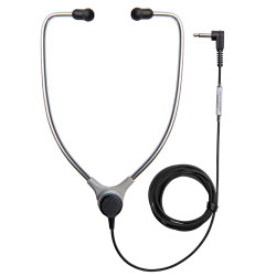 ECS AL-60 SAET Aluminum Stetho Style Headset With Soft Antimicrobial Eartips  - New