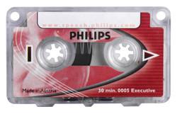 Philips LFH0005/60 Executive 30 Minute Mini Cassette Tape - 5 Pack
