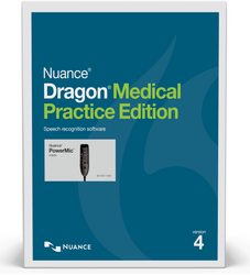 Nuance® Dragon® Medical Practice Edition 4 with PowerMic™ III - 3ft cable
