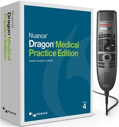 Nuance® Dragon® Medical Practice Edition 4 with Philips SMP3700 Premium Touch Dictation Microphone