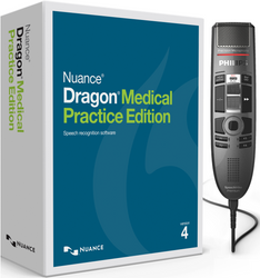 Nuance® Dragon® Medical Practice Edition 4 with Philips SMP3710 Premium Touch Dictation Microphone