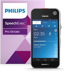 Philips SpeechAir Smart Voice Recorder with SpeechExec Pro Dictate 10 and Speech recognition