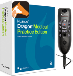 Nuance® Dragon® Medical Practice Edition 4 with Dragon Veterinary and PowerMic™ III - 3ft cable