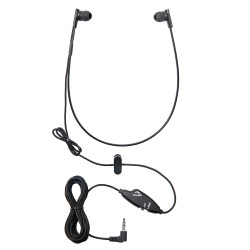 WordSleuth Under-chin In-Ear 3.5 mm Transcription Headset – Noise Reduction Angled Antimicrobial & Silicone Ear Tips
