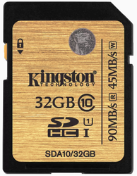Kingston  32 GB SD Class 10 Memory Card