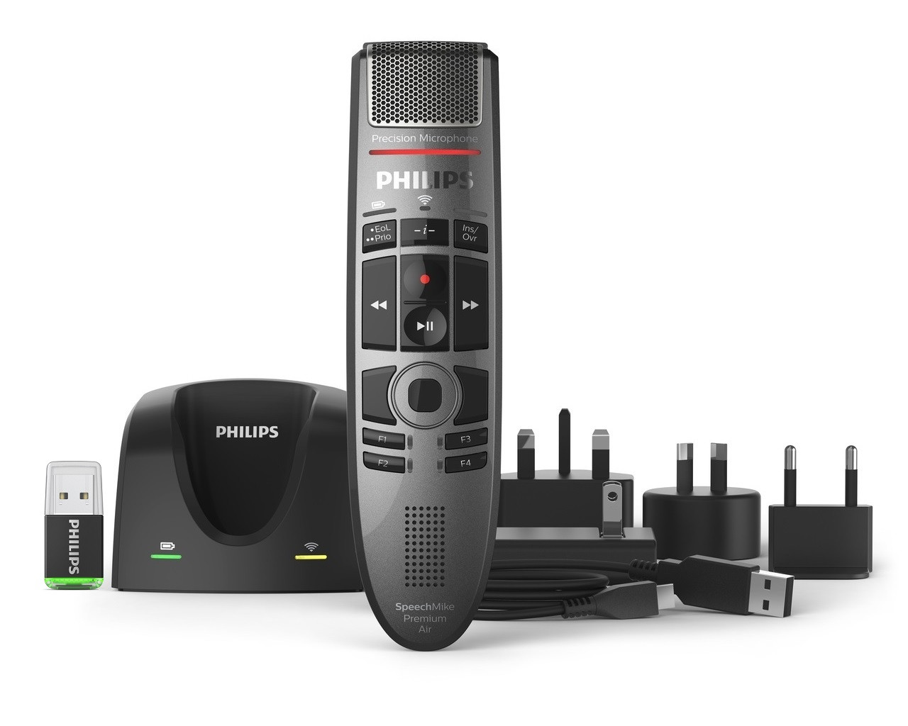 Philips SMP4000 SpeechMike Premium Air Wireless Dictation