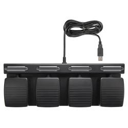 ECS-FCPFP Four Button Custom Programmed Keystroke USB Foot Pedal Control