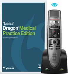 Nuance® Dragon® Medical Practice Edition 4 with Philips SMP4000 Wireless Microphone